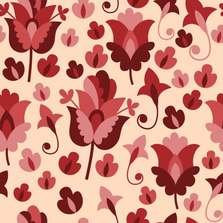 Seamless pattern with flowers Stock Vector - 19059282