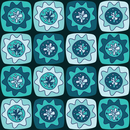 Seamless pattern with squares and flowers Stock Vector - 19403913