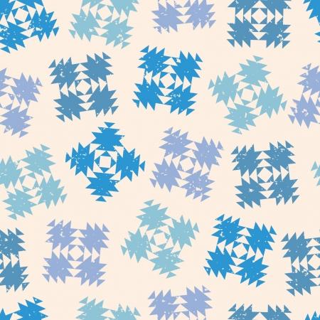 Naadloos ontwerp met abstracte sneeuwvlokken