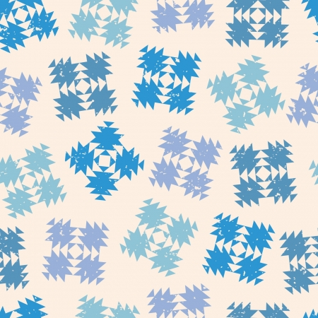 Seamless design with abstract snowflakes