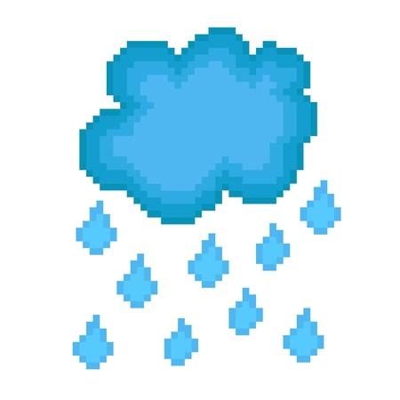 Pixel icon rain cloud