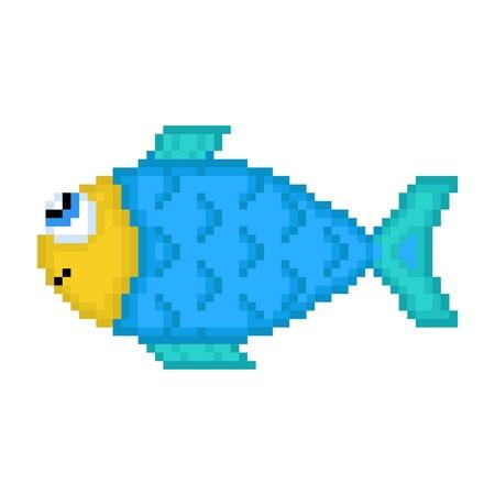 Illustration pixel fish
