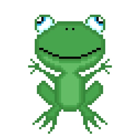 Illustration pixel frog Vector