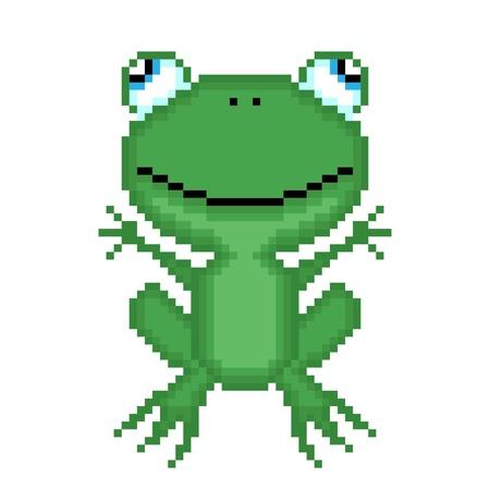 Illustration pixel frog Stock Vector - 21205545