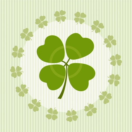 Illustration of clover with four leaves on luck Stock Vector - 22174194