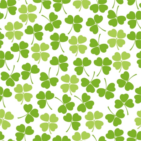 shamrock seamless: Seamless clover background Illustration