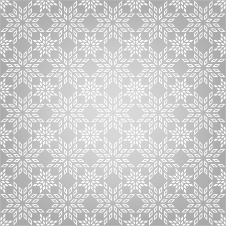 Abstract pattern with snowflakes Vector
