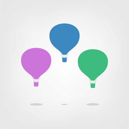 Air balloon isolated on a light background