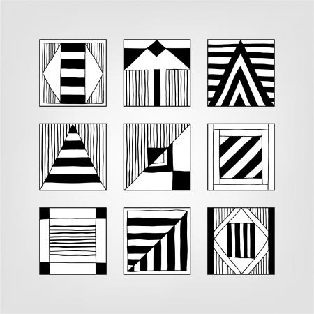 abstracte vormen: Set van abstracte vormen