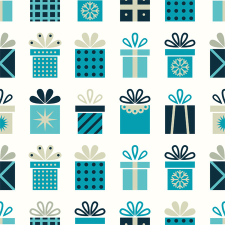 Seamless pattern with gift boxes Vector