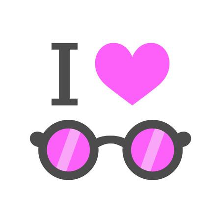 I love pink glasses Stock Vector - 22713077