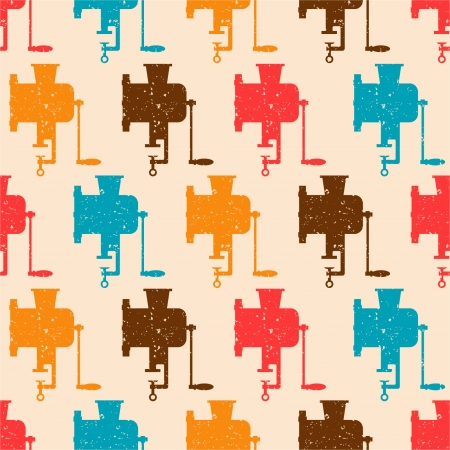 Seamless pattern with color retro grinders Vector