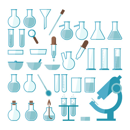 Laboratory equipment set Stock Vector - 23300384