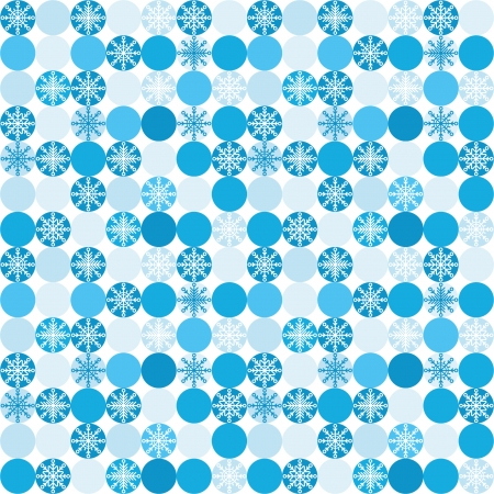 Seamless background with snowflakes in circles Stock Vector - 23300407