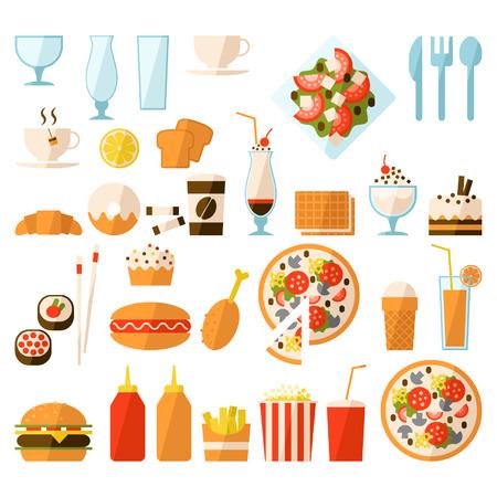 Fast food set Illustration