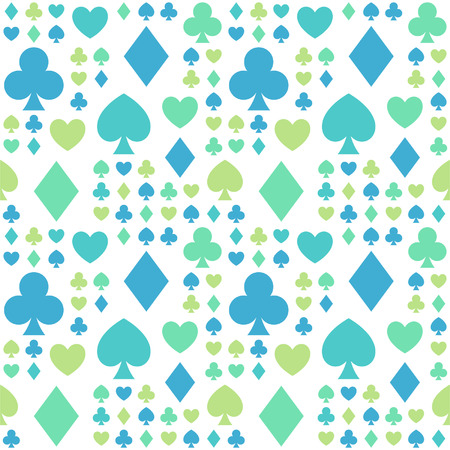 Seamless pattern with card suits Stock Vector - 24019314