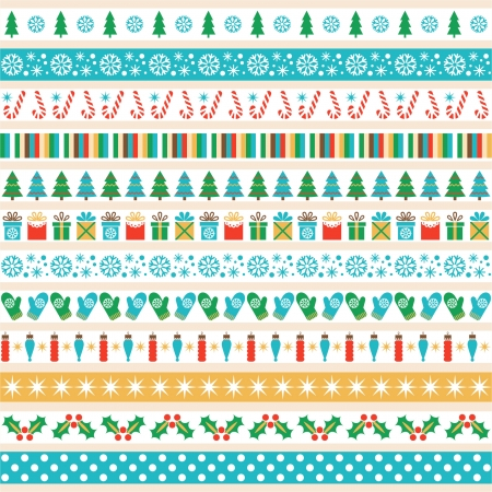 Set of Christmas tape strips Stock Vector - 24022999