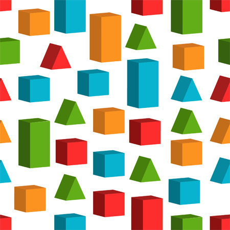 Seamless background with toy cubes