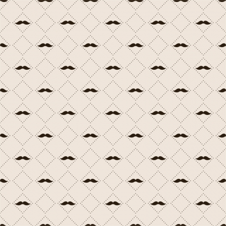 Seamless pattern with mustache