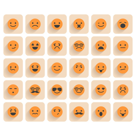 bored face: Set of smiley icons
