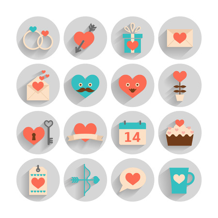 Romantic set for Valentine s day, date and weddings Illustration