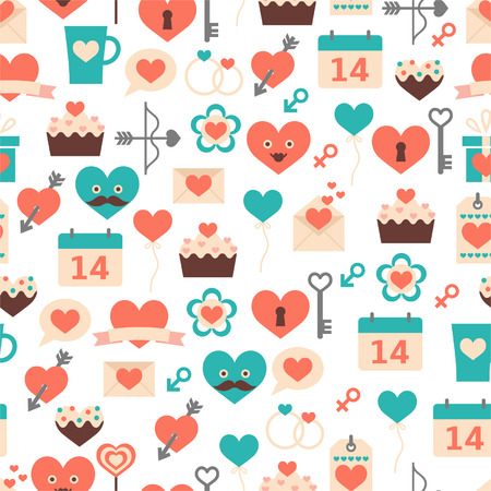 Seamless pattern for Valentine s day, date and weddings Stock Vector - 24626610