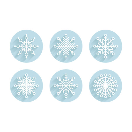 Set of snowflakes Stock Vector - 24754201