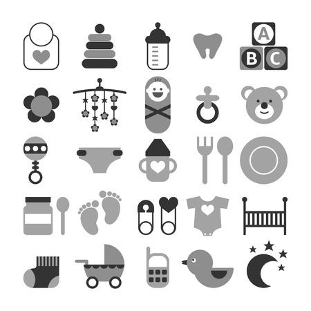 Set of baby icons Ilustracja