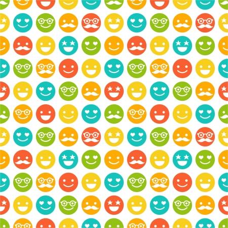 Naadloos patroon met kleur smileys