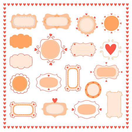 Set romantic frames Vector