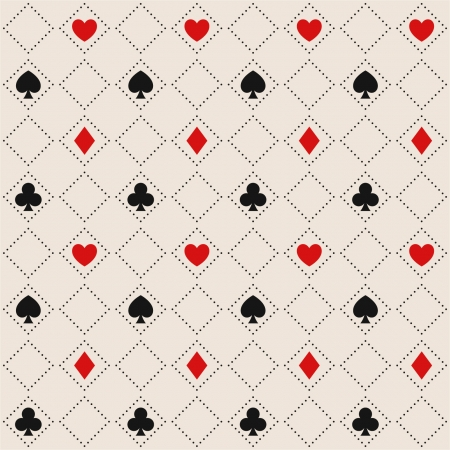 Seamless pattern with card suits Illustration