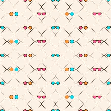 Naadloos patroon met kleur zonnebril