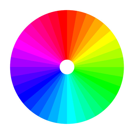 the shade: Color wheel with shade of colors, color spectrum Illustration