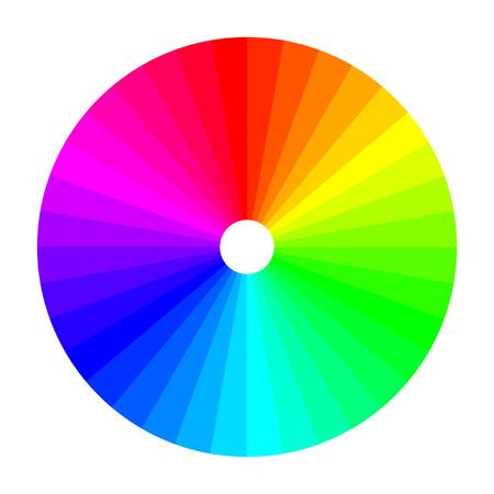 Kleurenwiel met schaduw van kleuren, kleurenspectrum