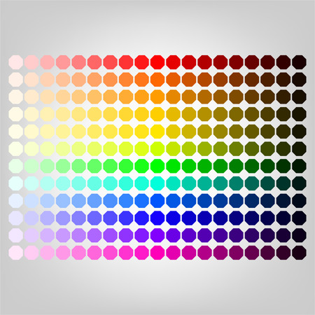 Color palette with shade of colors  Illustration