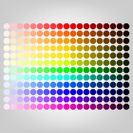 Kleurenpalet met schaduw van kleuren Stock Illustratie