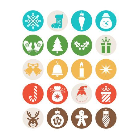 Set of Christmas icons Ilustracja