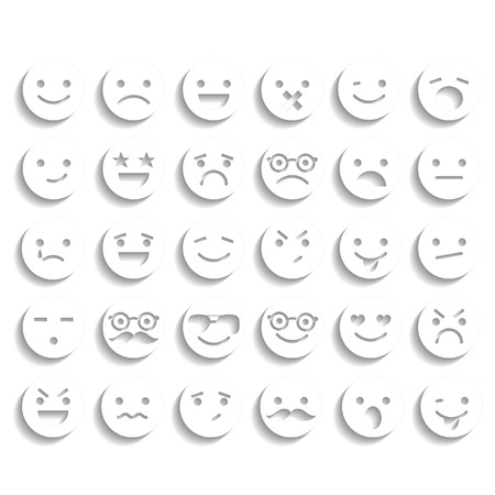 boring: Set of smiley icons