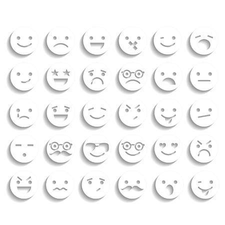 Set van smiley iconen