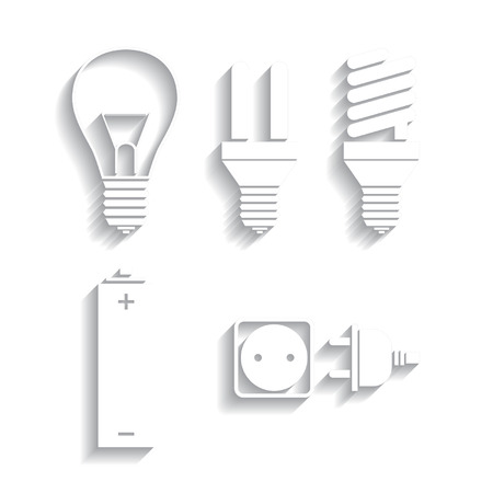 Set of energy, electricity icons Vector