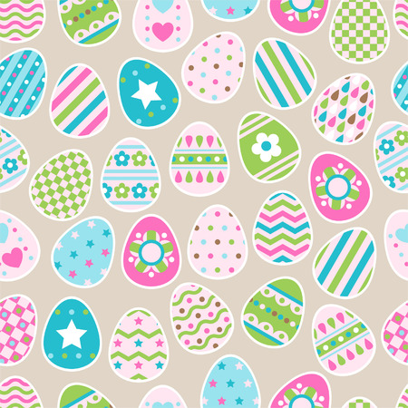 Seamless pattern of color easter eggs Vector