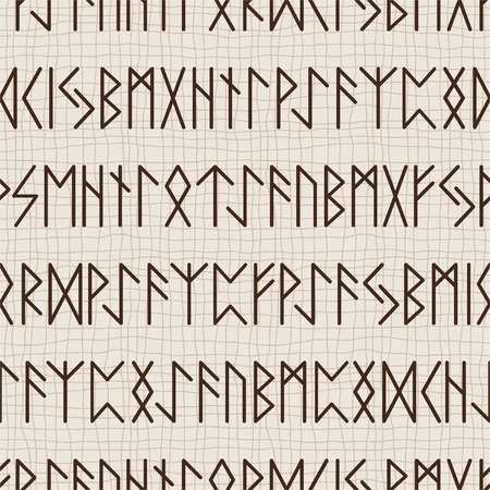 Naadloos patroon van de runen Stock Illustratie