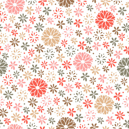 Seamless floral pattern, endless background Vector