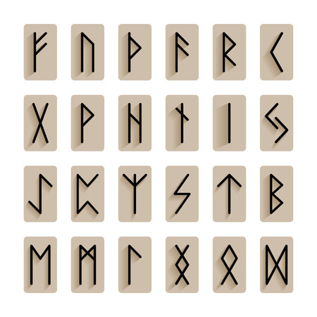 Set of signs runes isolated Vector