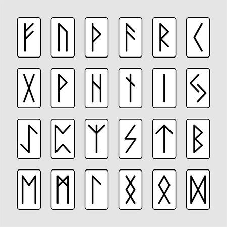 Set of signs runes  Vector