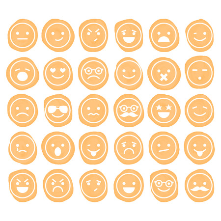 Set of smiley icons isolated for design Vector