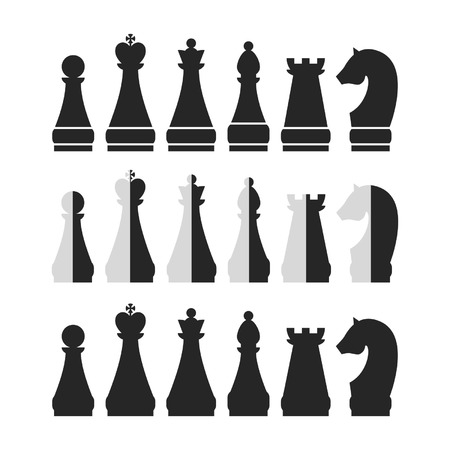Set of chess for design Vector