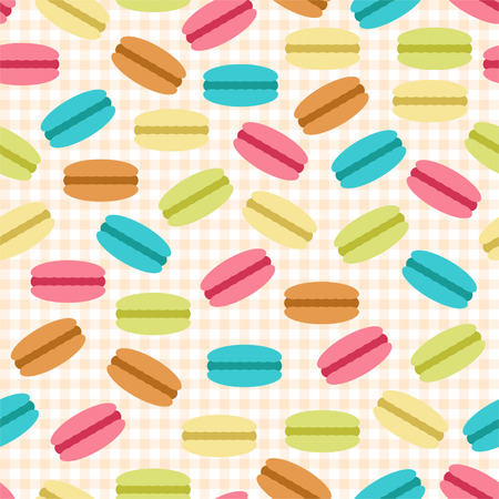 Seamless pattern of macaroons for textiles, interior design, for book design, website background