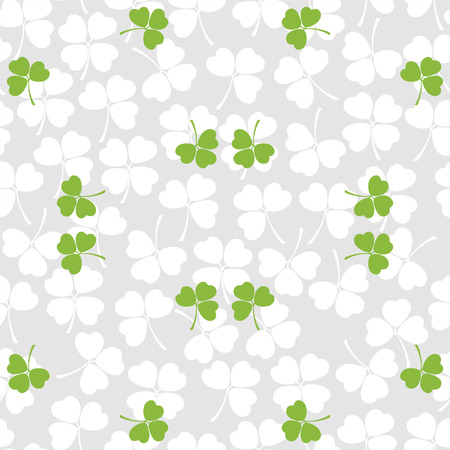 Seamless decorative floral pattern with clover, shamrocks for textiles, interior design, for book design, website background Vector