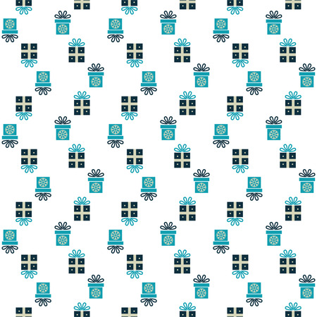 Seamless pattern with gift boxes for textiles, interior design, for book design, website background Vector